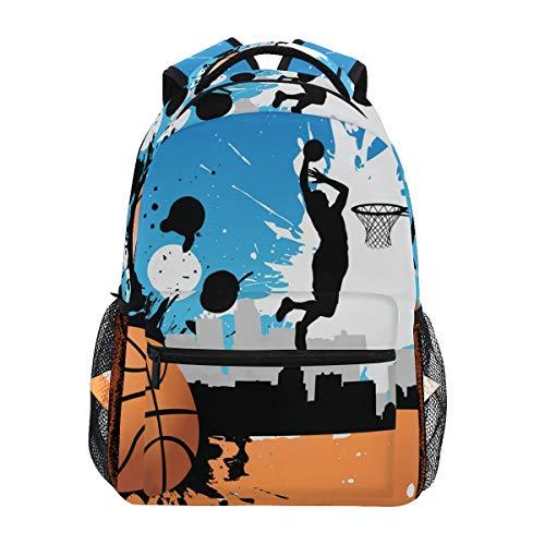 Jugador de Baloncesto Mochila Escolar para niños niñas niños Bolsa de Viaje Bookbag