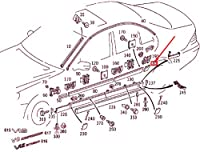 MB S W220 リア 左 フェンダー ストリップ A22069003629999 NEW GENUINE
