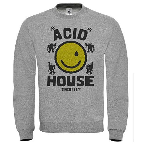Felpa Acid House Smile, Dj Chicago, Musica Techno, Dance, Discoteca