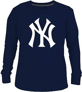 GuAiRo Mens Yankees Crew Neck Cotton Long Sleeve T-Shirt