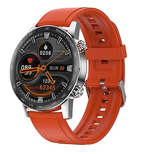FMSBSC Smartwatch Reloj Inteligente para Teléfonos Android iOS Fitness Tracker con Llamada Bluetooth Monitor De Frecuencia Cardíaca & Presión Arterial Ciclo Menstrual Femenino,Rojo