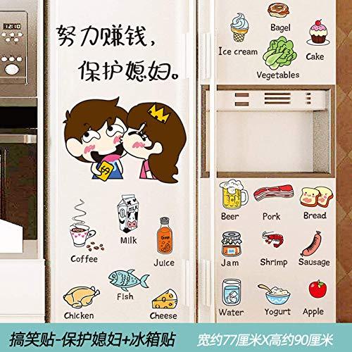 Mdlucz Pegatinas de Nevera de Dibujos Animados para decoración de Cocina, Pegatinas de Pared, armarios de Restaurante autoadhesivos