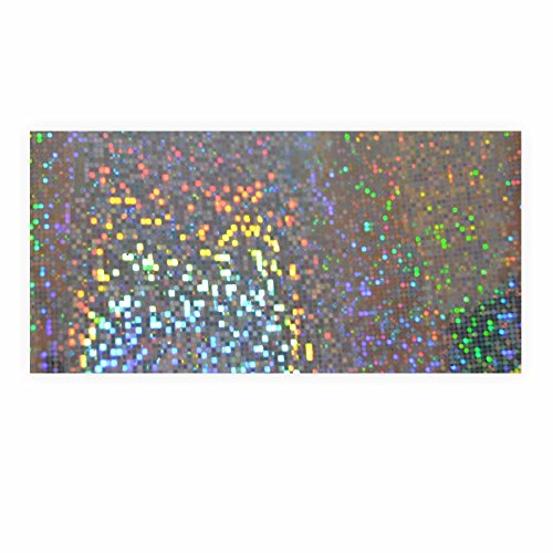 Holographische Folie Dots silber 40 x 100cm 1 Rolle