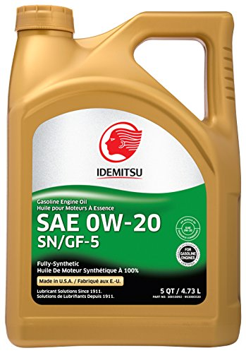 Idemitsu Full Synthetic 0W-20 Engine Oil SN/GF-5 - 5 Quart