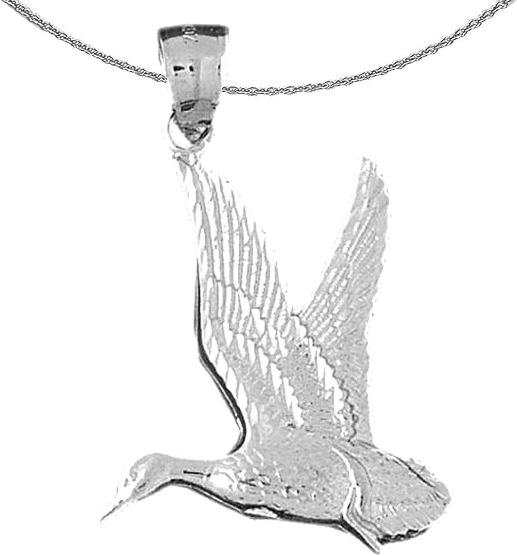 Jewels Obsession Gold Elegant Bird Necklace 4 years warranty 14K Pendan White Duck