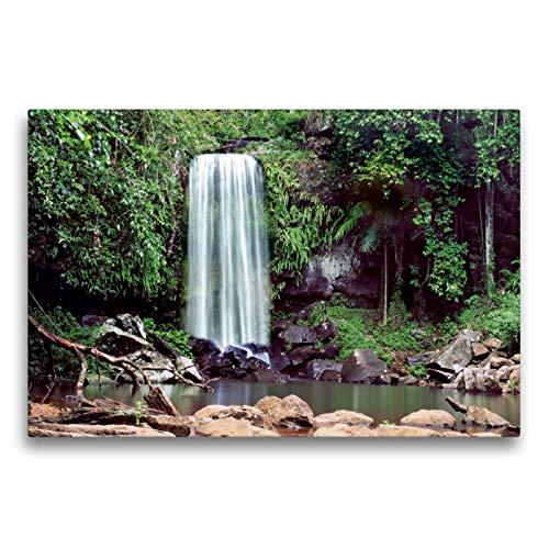 Premium Textil-Leinwand 75 x 50 cm Quer-Format Curtis Falls, Tamburine Mountain, Queensland | Wandbild, HD-Bild auf Keilrahmen, Fertigbild auf hochwertigem Vlies, Leinwanddruck von Andrea Redecker