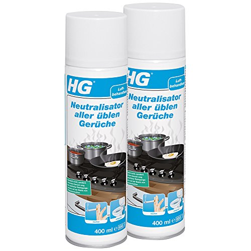 HG Neutralisator aller üblen Gerüche, 2er pack (2x 400 ml) – ein wirksamer Geruchsneutralisierer, der allen üblen Gerüchen ein Ende macht