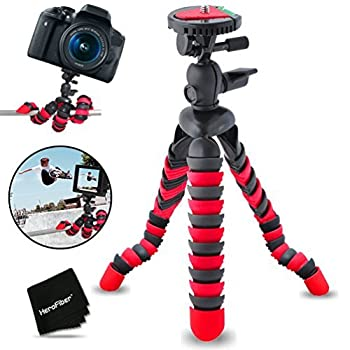 """12"""" Inch Flexible Tripod with Quick Release Plate for Nikon Coolpix P900 P610 S9900 S7000 S6900 P7800 P7700 P7100 P7000 P6000 P5100 P530 P520 P510 P500 P100 L830 L820 L810 P600 S30 L630 L620 L610 L330 L320 L310 L120 L110 L28 L26 L24 L22 L20 L19 Digital Cameras."""
