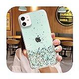 phone cover Bling Glitter - Funda para iPhone 12 11 Pro Max Xr Xs Max X 7 8 6 6Splus 12 Mini suave epoxi transparente cubierta trasera T4-para iPhone 11Pro
