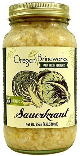 Organic Raw, Fermented Classic Sauerkraut, 25 Oz Economy Size (1 Jar)