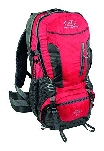 Highlander Scotland Hiker, Zaino Unisex-Adulto, Rosso, 30