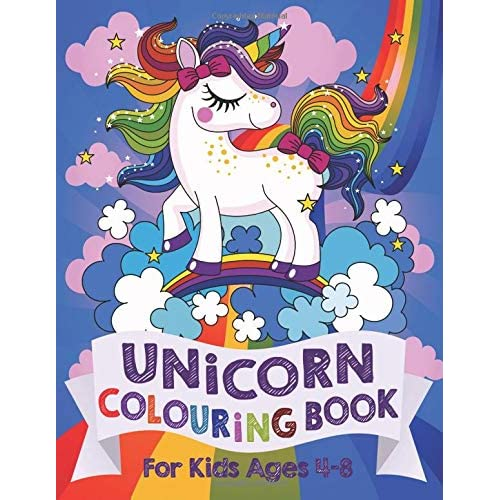2cbd03df1 Unicorn Colouring Book: For Kids ages 4-8