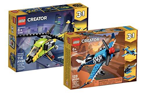 Collectix Lego Creator 3-in-1 - Set: 31092 Hubschrauber-Abenteuer + 31099 Propellerflugzeug