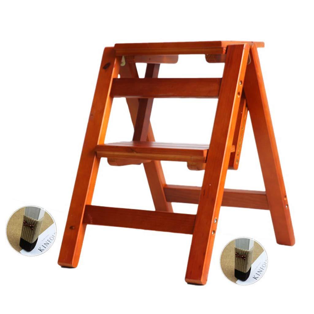 Escalera Plegable Taburete de Madera Maciza de 2 peldaños Escalera multifunción para Sala de Estar Dormitorio Cocina Biblioteca Ascendente Herramienta Escalera Silla de Almacenamiento portátil: Amazon.es: Hogar