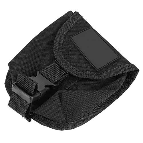 minifinker Orificio de Fuga Inferior Bolsillo para cinturón de Peso Bolsillo para Pesas de Buceo Paño de Nailon Recubierto de TPU 1000D, para bucear(Black)