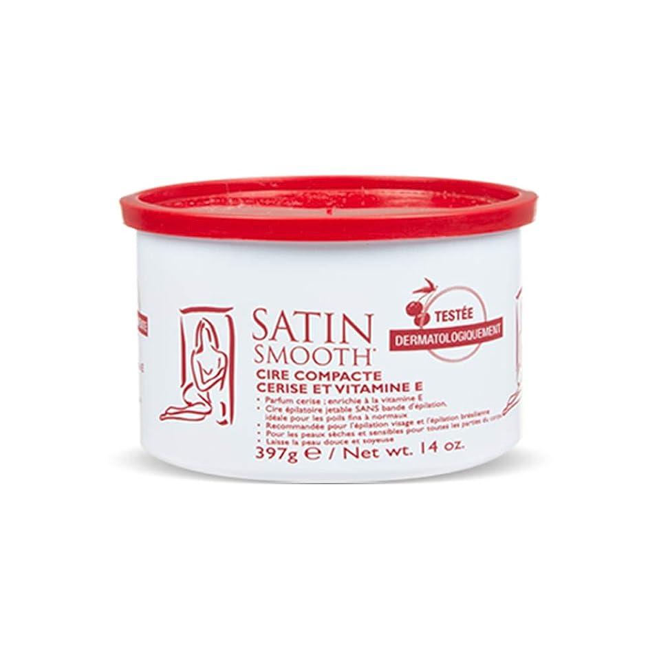 直径銀コロニーSatin Smooth Wild Cherry Hard Wax with Vitamin E, 14 oz. 141[並行輸入]