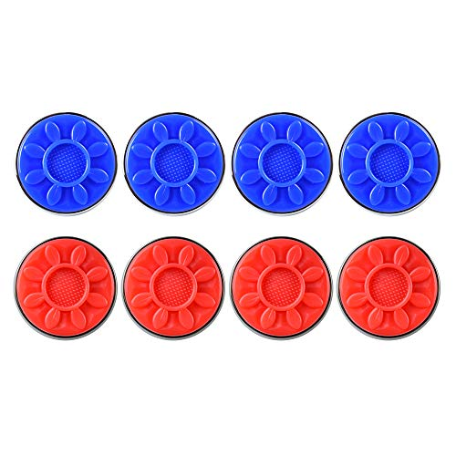 %15 OFF! IdealEnjoy Shuffleboard Pucks 2-1/4(58mm),Set of 8(red&Blue)