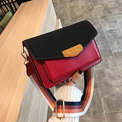 Zhouzl Hogar & Jardín Bolso pequeño for Mujer Bolso Bandolera Moda Messenger Bag Hogar & Jardín (Color : Red)