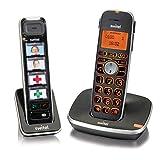 Switel D112 Vita Comfort, mobiles DECT Senioren-Telefon Set, große beleuchtete Tasten und Display...