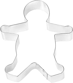 Fox Run Gingerbread Boy Cookie Cutter, 5-Inch, Stainless Steel