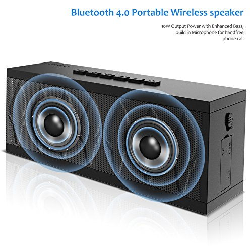 Bluetooth Speaker aelec Wireless Portable Speakers with Waterproof, HD Sound, More Bass, 10W+...