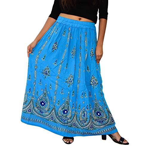 Nisrah Gypsy Boho Hippie Rok vrouwen lange rok/Prachtige dames Indian Boho Hippie zigeuner pailletten zomer Sundress Maxi Rok.