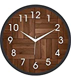 Medium wall clock 25.4 X 25.4 CM High-quality quartz movement can not only keep the clock silent without annoying ticking sound,but also guarantee more smooth turning of clock hands,thus ensuring accurate time and a longer working life of the clock. ...