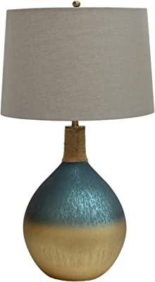 Crestview Collection CVIDZA012 Glass Table LAMP 1PCS UPS Pack/ 7.05' Lighting