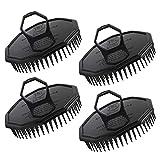 4pcs cepillos de champú negro, Segbeauty Scalp Massager Set de cepillos Peluquería Hombres Peine de ducha Cepillo Inicio para el crecimiento del cabello Barba Peluquería para mascotas