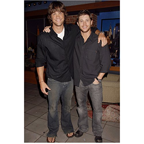 Supernatural Jared Padalecki and Jensen Ackles with arms around each other 8 x 10 Inch Photo