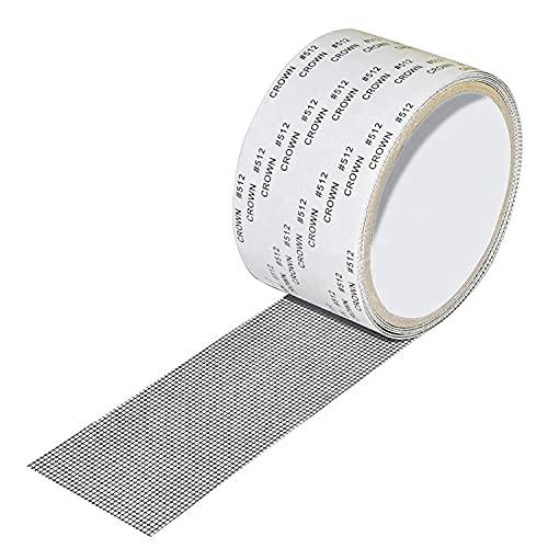Nastro Universale per Riparare Zanzariere Nastro Adesivo in Fibra di Vetro per Finestre Insetto,Aggiornato Adesivo Forte per Riparazione di Finestre e Porte Anti-Zanzara Insetto,5cm x 200cm Grigio