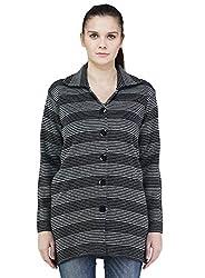 Montrex Gray Color Stylish Women Cardigans