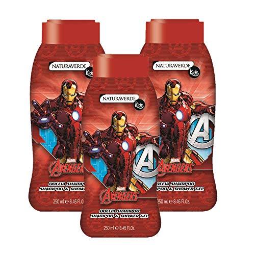 Set 3x250ml DocciaShampoo Avengers Naturaverde Kids