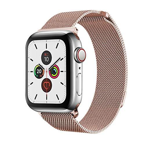 Cinturino in maglia milanese per Apple Watch Series SE / 6/5/4/3/2, cinturino in acciaio inossidabile per IWatch-Oro rosa, 38 mm o 40 mm
