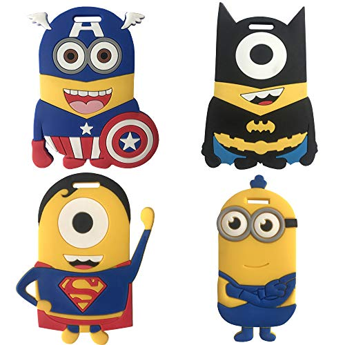 Minions Travel Luggage Tag For Bags With Adjustable Strap - Set of 4