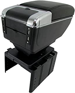 Console Apoio de Braço Universal Preto com USB