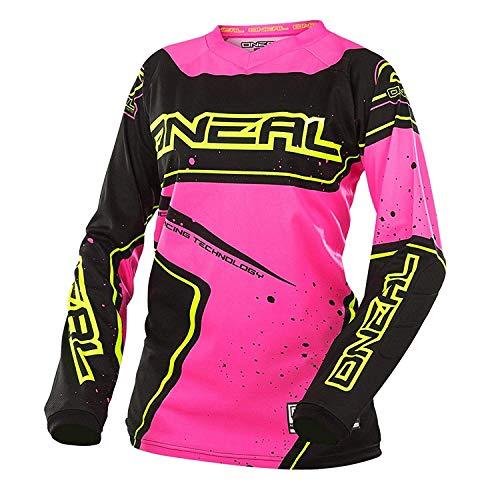 O 'Neal Element Racewear Mujer Jersey Negro Rosa MX MTB DH Camiseta Motocross Offroad, 0028-70