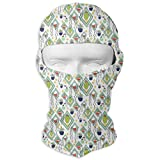 Sdltkhy Succulent Plants Are in The Quadrangle Men Women Balaclava Neck Hood Full Face Mask Hat Sunscreen Windproof Breathable Quick Drying White New12
