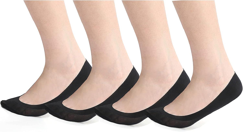 2-4 Pairs No Show & Liner Socks Women Invisible Non Slip Cotton Nylon Invisible Hidden thin socks for Flats Boat Sneaker