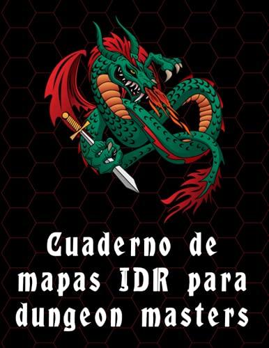 Cuaderno de mapas JDR para dungeon masters: dibuja mapas maravillosos para D&D y otros juegos de rol en papel hexagonal, con una leyenda en el costado ... npcs, botín y notas (21,6 x 27,9cm)
