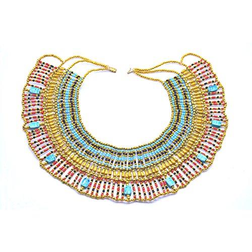 Collar Pectoral réplica del Antiguo Egipto, Cleopatra, Disfraz, Carnaval y Danza del...