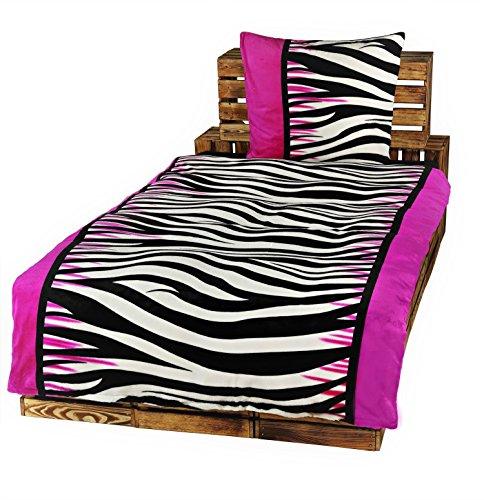 Dresscode 4 Teilige Winter Bettwäsche Set 135 x 200 Teddy PLÜSCH Coral Fleece Cashmere Touch Super Soft Zebra
