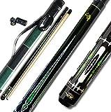 Taiba 2-piece Pool stick con punta in caso di 1 x 1, 13 MM, 147,3 cm in legno di acero canadese professionale da biliardo 19 - 623,7 gram (selezionabile) -blue, nero, rosso, grigio, verde, marrone
