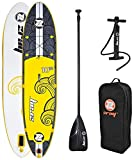 zray X2 All Around Inflatable Stand Up Paddle Board, 10'10', Yellow