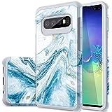 Samsung S10 Plus Case,S10 Plus Case,Fingic Blue Marble
