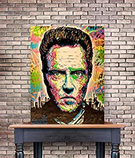 lzsart HD Printed Oil Paintings Home Wall Decor Art on Canvas Alec Monopoly Christopher Walken 4size#197 (Framed,18x24inch)