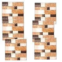 バスルーム/キッチンタイル転写ステッカー、壁タイルの皮に貼り付け、スティックの装飾防水シミュレーションレンガ-703_20cm * 20cm * 6pcs