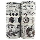 Vintage Washi Tapes Set, EnYan 10 Rolls Japanese Masking...