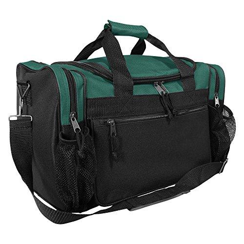 "DALIX 17"" Duffle Bag Front Mesh Pockets in Green"