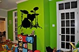 Drum Set Decal Drum Set Sticker Drums Decor Drums Rock Music Rock'n'roll Let's Rock Heavy Metal Band Wall Art Stickers Tr264